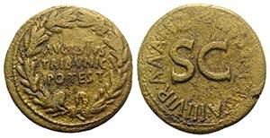 Augustus (27 BC-AD 14). Æ Dupondius ...