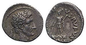 Augustus (27 BC-AD 14). AR Denarius (18mm, ...