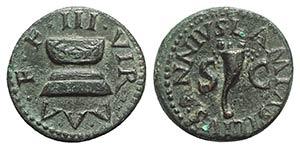 Augustus (27 BC-AD 14). Æ Quadrans (17mm, ...