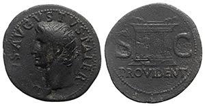 Divus Augustus (died AD 14). Æ As (32mm, ...