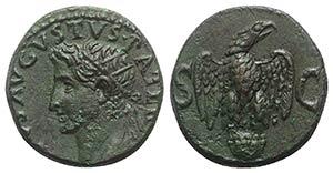 Divus Augustus (died AD 14). Æ As (25.5mm, ...