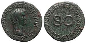 Germanicus (died AD 19). Æ As (30mm, ...
