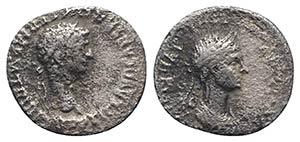 Claudius with Agrippina Junior (41-54). AR ...