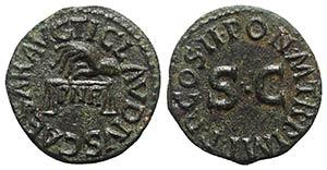 Claudius (41-54). Æ Quadrans (16.5mm, ...