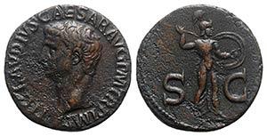 Claudius (41-54). Æ As (28mm, 9.89g, 6h). ...