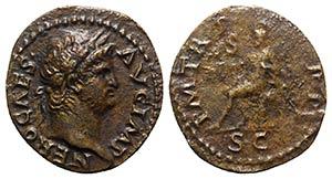 Nero (54-68). Æ Semis (17.5mm, 2.57g, 6h). ...