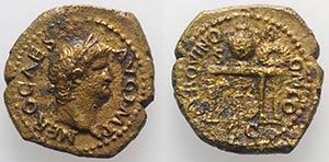 Nero (54-68). Æ Semis (19mm, 3.79g, 6h). ...