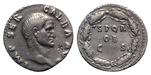 Galba (68-69). AR Denarius (19mm, 3.36 g, ...