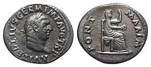 Vitellius (AD 69). AR Denarius (19.5mm, ...