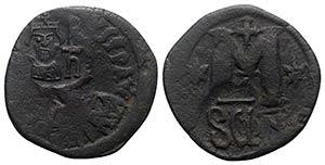 Heraclius (610-641). Æ 40 Nummi (32mm, ...