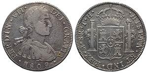 Mexico, Ferdinando VII (1808-1833). AR 8 ...