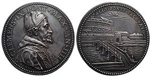 Papal, Clemente IX (1667-1669). AR Medal ...