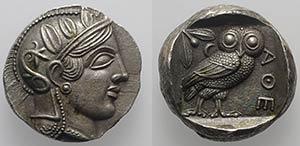 Athens, c. 337-294 BC. Fake Tetradrachm ...