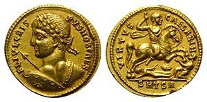 Crispus (Caesar, 316-326). Fake AV Solidus ...