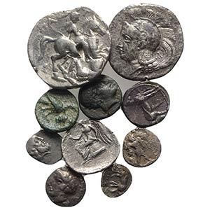Lot of 10 Greek AR coins, including Magna ...