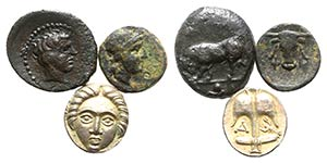 Lot of 3 Greek AR and Æ coins, including ...
