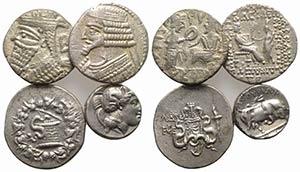 Lot of 4 AR Greek coins, including Thourioi ...