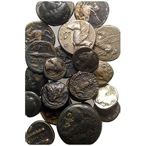 Lot of 23 Greek AR and Æ coins, including ...