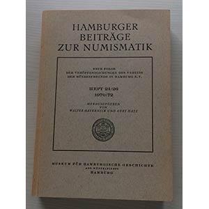 Hamburger BEITRÄGE ZUR NUMISMATIK (HBN). ...
