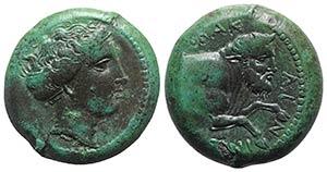 Sicily, Abakainon, c. 339-317 BC. Æ Litra ...