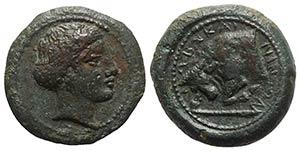 Sicily, Abakainon, c. 339-317 BC. Æ ...