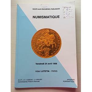 Argenor Auction. Paris 24 Avril 1998. ...