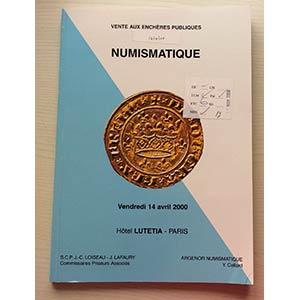 Argenor  Auction. Paris 14 Avril 2000. ...