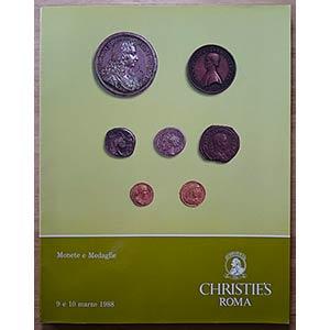 Christies, Monete e Medaglie. Roma, 9-10 ...