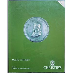 Christies - monete e medaglie. Roma, 26 ...