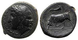 Sicily, Abakainon, c. 317-310 BC. Æ (23mm, ...