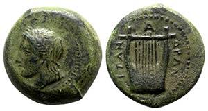 Sicily, Adranon, c. 354-345 BC. Æ (25mm, ...