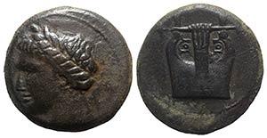 Sicily, Adranon, c. 340-330 BC. Æ Tetras ...