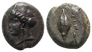Sicily, Adranon, c. 340-330 BC. Æ (13mm, ...