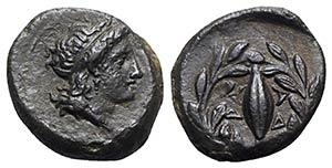 Sicily, Adranon, c. 339-307 BC. Æ (12mm, ...