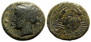 Bruttium, Terina, c. 350-275 BC. Æ (26mm, ...