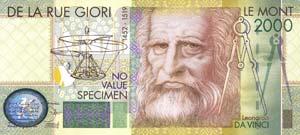 VARIE - Assegni  Progetto Leonardo SPECIMEN ...