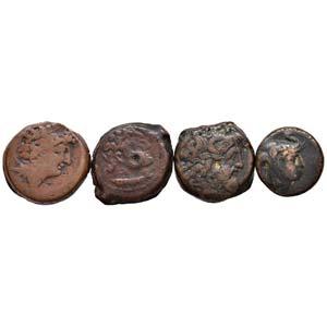 LOTTI - Greche  Lotto di 4 monete tolemaiche