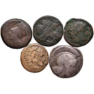 LOTTI - Greche  Lotto di 5 monete