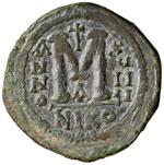 BIZANTINE - Giustiniano I (527-565) - Follis ...