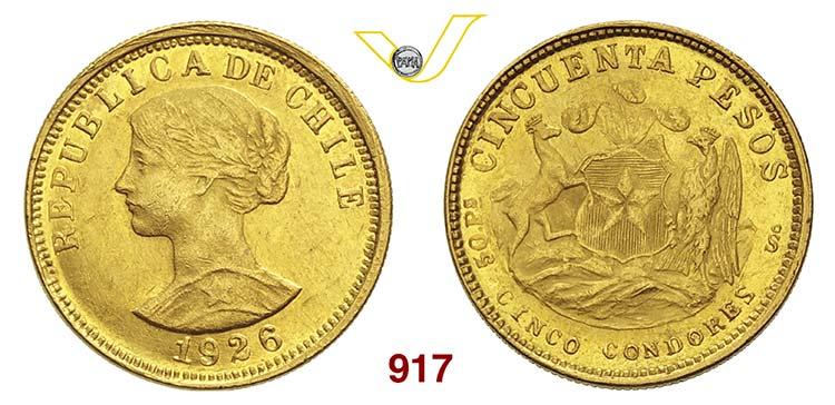 CILE      50 Pesos 1926.   Fb. 55  ...