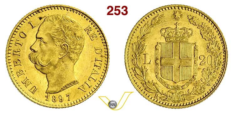 UMBERTO I  (1878-1900)  20 Lire ...