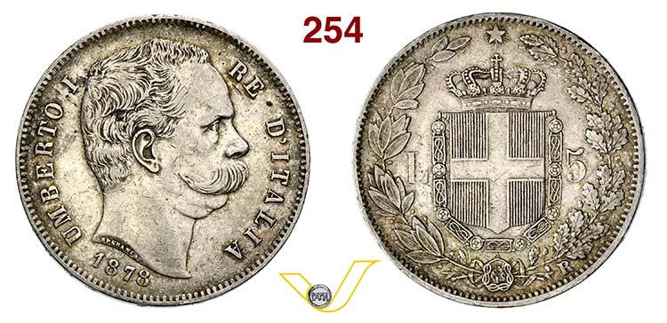 UMBERTO I  (1878-1900)  5 Lire ...