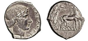 SICILIA - KATANE      (425-410 a.C.)  ...