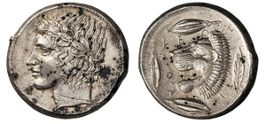 SICILIA - LEONTINI      (460 a.C.)  ...