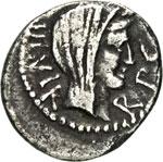 MARCANTONIO  (40-39 a.C.)  Quinario.  D/ ...
