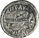 MARCANTONIO  (32-31 a.C.)  Denario, leg. ...