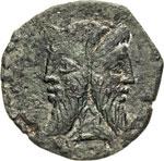 TITIA - Q. Titius  (90 a.C.)  Asse.  D/ ...