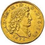 CARLO EMANUELE II  (1648-1675)  Doppia 1675. ...