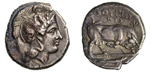 LUCANIA - THURIUM -  (400-350 a.C.) Statere ...