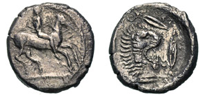 SICILIA - LEONTINI -  (475-470 a.C.) ...